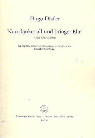 Nun danket all und bringet Ehr 1941 - Hugo Distler - laflutedepan.com