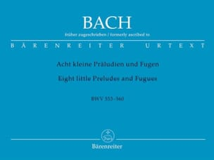 BACH - 8 Little Preludes and Fugues BWV 553-560 - Sheet Music - di-arezzo.com