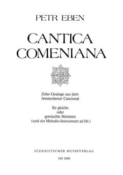Cantica Comeniana Petr Eben Partition Chœur - laflutedepan
