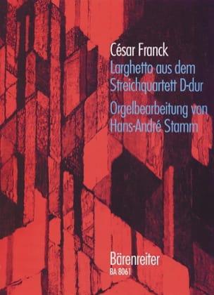 César Franck - Larghetto - Partition - di-arezzo.fr
