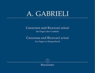 Andrea Gabrieli - Canzonen Und Ricercari Ariosi 1-13 - Sheet Music - di-arezzo.com