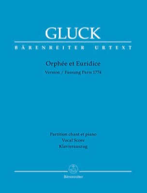 GLUCK - Orpheus and Euridice - Partition - di-arezzo.com