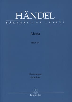HAENDEL - Alcina - Sheet Music - di-arezzo.co.uk