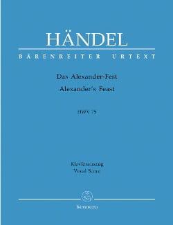 HAENDEL - Das Alexander-Fest oder Die Macht der Musik. Hwv 75 - Partition - di-arezzo.fr