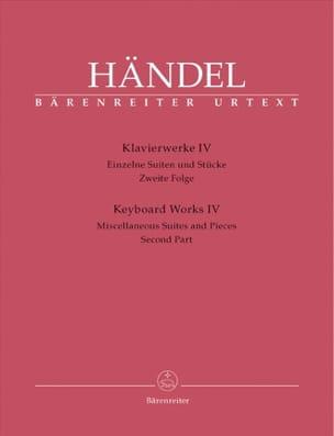 HAENDEL - Oeuvre pour piano Volume 4. - Partition - di-arezzo.fr