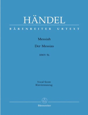 HAENDEL - Messiah. Version Allemande - Partition - di-arezzo.fr