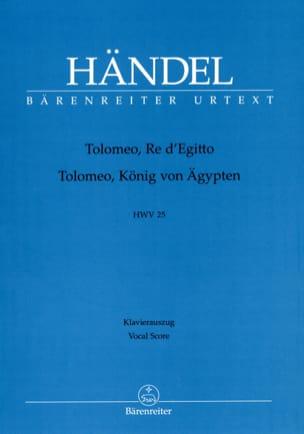 HAENDEL - Tolomeo, Re d' Egitto. HWV 25. - Partition - di-arezzo.fr