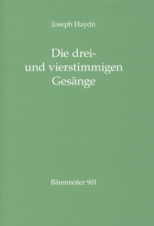 HAYDN - Die drei- und vierstimmigen Gesänge für gemischte Singstimmen und Klavier - Partitura - di-arezzo.es