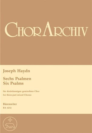 HAYDN - 6 Psalmen - Sheet Music - di-arezzo.co.uk