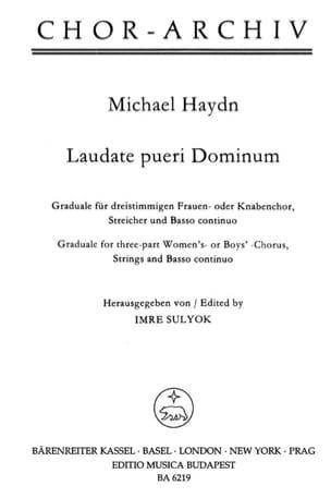 Michael Haydn - Laudate pueri Dominum - Partition - di-arezzo.fr