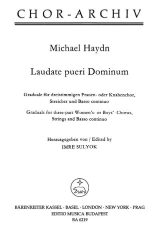 Laudate pueri Dominum Michael HAYDN Partition Chœur - laflutedepan