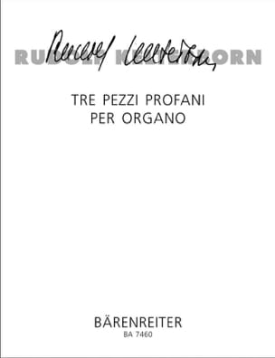 Rudolf Kelterborn - 3 Pezzi Profani Per Organo - Partition - di-arezzo.fr