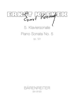 Ernst Krenek - 5ème Klaviersonate Op. 121 (1950) - Partition - di-arezzo.fr