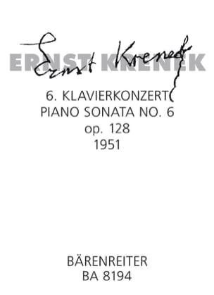 Ernst Krenek - Sixième sonate Op. 128 (1951) - Partition - di-arezzo.fr