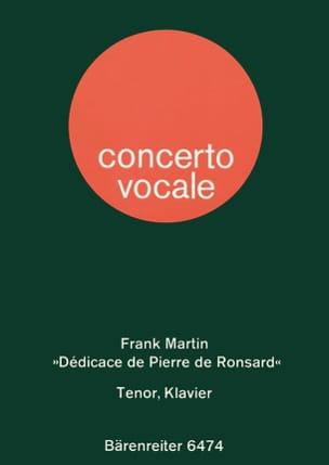 Frank Martin - Dédicace de Pierre de Ronsard (1945). - Partition - di-arezzo.fr