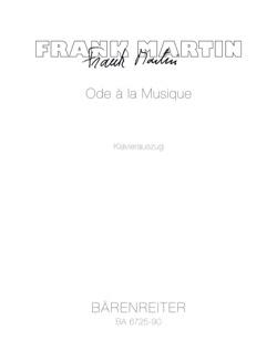 Frank Martin - Ode A la Musique (1961) - Partition - di-arezzo.fr
