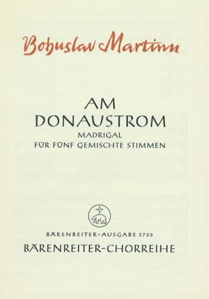 Am Donaustrom MARTINU Partition Chœur - laflutedepan