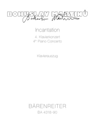Incantation: Concerto N° 4 Bohuslav Martinu Partition laflutedepan