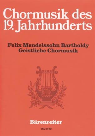 MENDELSSOHN - Geistliche Chormusik - Partition - di-arezzo.fr