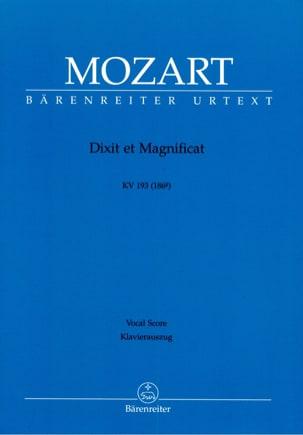 MOZART - Dixit et Magnificat K 193 (186g) - Partition - di-arezzo.fr