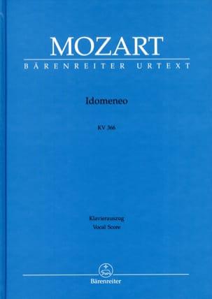 MOZART - Idomeneo K 366. Urtext - Partition - di-arezzo.fr