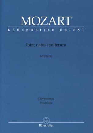MOZART - Inter Natos Mulierum. Offertorium de S. Joanne Baptista. K 72. - Partition - di-arezzo.fr