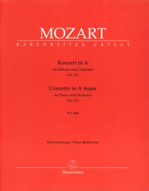 MOZART - Concerto per pianoforte n. 23 nel Major KV 488 - Partition - di-arezzo.it