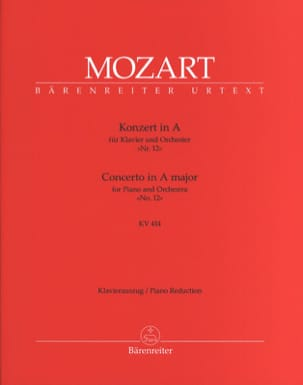 MOZART - Concerto Pour Piano N° 12 En la Majeur K 414 - Partition - di-arezzo.fr