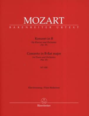 MOZART - Concerto Pour Piano N° 15 En Si Bémol Majeur K 450 - Partition - di-arezzo.fr
