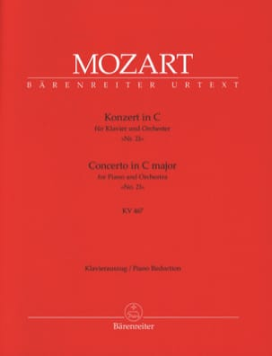 MOZART - Concierto para piano n.º 21 en Do mayor K 467 - Partitura - di-arezzo.es