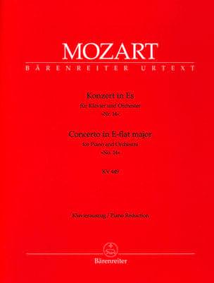 MOZART - Concerto Pour Piano N°14 En Mi Bémol Majeur K 449 - Partition - di-arezzo.fr
