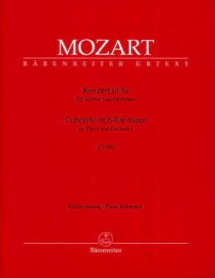 MOZART - Concerto Pour Piano N° 22 En Mi Bémol Majeur K 482 - Partition - di-arezzo.fr