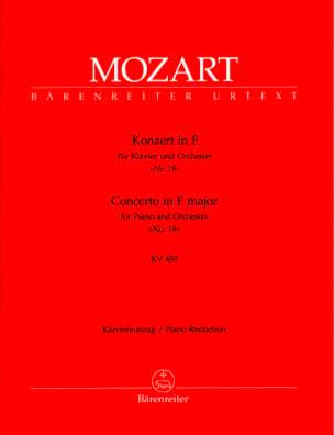MOZART - Concerto Pour Piano N° 19 En Fa Majeur K 459 - Partition - di-arezzo.fr