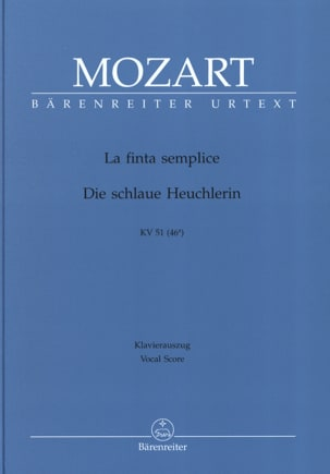 MOZART - The Finta Semplice K 51 - Sheet Music - di-arezzo.co.uk