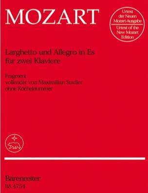 MOZART - Larghetto et Allegro Mi Bémol Majeur. 2 Pianos - Partition - di-arezzo.fr