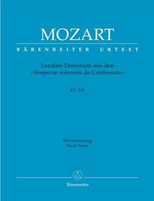MOZART - Laudate Dominum. KV 339 - Partition - di-arezzo.fr