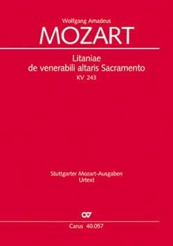 MOZART - Litaniae de Venerabili Altaris Sacramento. KV 243 - Partition - di-arezzo.fr