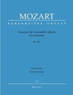 MOZART - Litaniae de Venerabili Altaris Sacramento. K 243 - Partition - di-arezzo.fr
