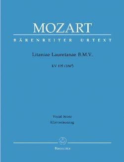 MOZART - Litaniae Lauretanae B.M.V. K 195 (186d) - Partition - di-arezzo.fr