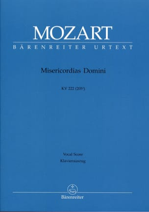 MOZART - Misericordias Domini K 222. - Sheet Music - di-arezzo.co.uk
