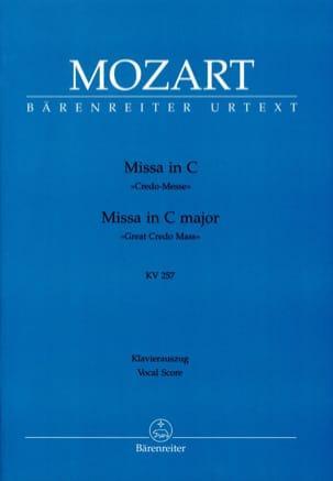 MOZART - Missa in C (Credo-Messe) KV 257 - Partition - di-arezzo.fr