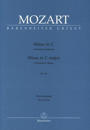 MOZART - Missa Dominicus Messe. K 66 - Partition - di-arezzo.fr