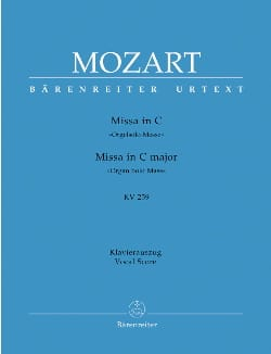 MOZART - Missa Brevis Orgelsolo-Messe. Do Majeur. K 259 - Partition - di-arezzo.fr