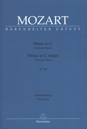 MOZART - Missa In C Trinitatis-Messe K 167 - Partition - di-arezzo.fr