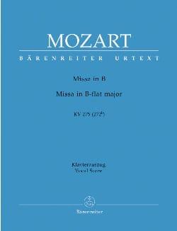 MOZART - Missa Brevis en B - KV 275 (272b) - Partitura - di-arezzo.es