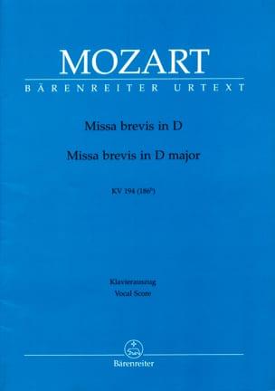 MOZART - Missa Brevis K 194 D-Dur - Partition - di-arezzo.fr