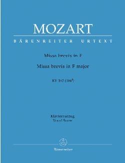 MOZART - Missa Brevis En Fa K 192 - Partition - di-arezzo.fr