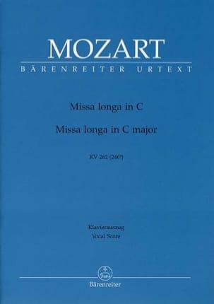 MOZART - Missa Longa. Do Majeur. K 262 - Partition - di-arezzo.fr