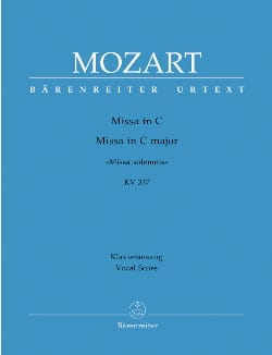 MOZART - Missa Solemnis. Do Majeur K 337 - Partition - di-arezzo.ch