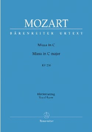MOZART - Missa Brevis In C K 258 (Spaur Mess) - Partition - di-arezzo.fr